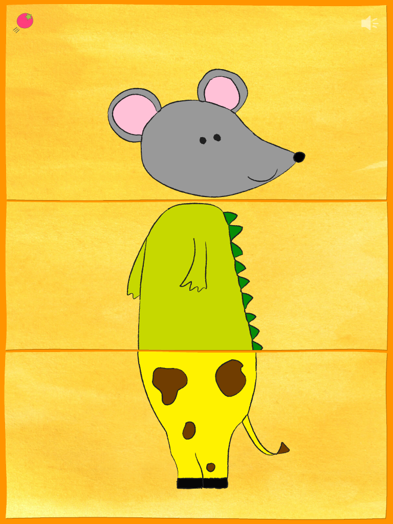 Mix & Match ZOO - Mouse,Crocodile,Giraffe